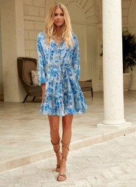MELISSA ODABASH BLUEBIRD FANTASY DRESS