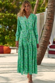 MELISSA ODABASH LORIKEET FERN DRESS