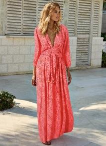 MELISSA ODABASH CARDINAL SAHARA DRESS