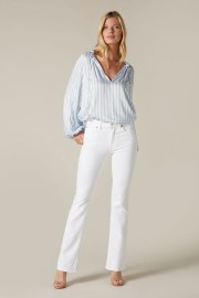 7 FOR ALL MANKIND LEFT HAND BOOTCUT MIDRISE WHITE JEANS