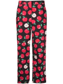 BOUTIQUE MOSCHINO APPLE PRINT CROPPED PANTS