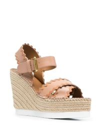 SEE BY CHLOE ESPADRILLE WEDGE HEEL SANDALS