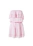 MELISSA ODABASH JOYBLUSH PINK SHORT BANDEAU DRESS