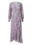 MELISSA ODABASH MACAW BOUQUET FRILL DRESS