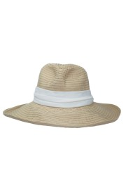 GREVI NATURAL SUN HAT WITH WHITE BAND