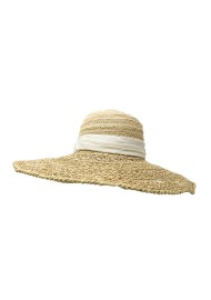 GREVI LARGE NATURAL SUN HAT WITH WHITE BAND