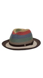 GREVI LARGE MULTI COLOUR  HAT WITH BLACK BAND