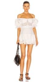 CHARO RUIZ JEAN LACE SHORT WHITE DRESS