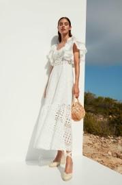 CHARO RUIZ LINDA LONG WHITE DRESS