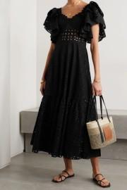 CHARO RUIZ LINDA BLACK LONG DRESS