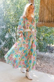 MISS JUNE FLORALIS PASTEL DRESS