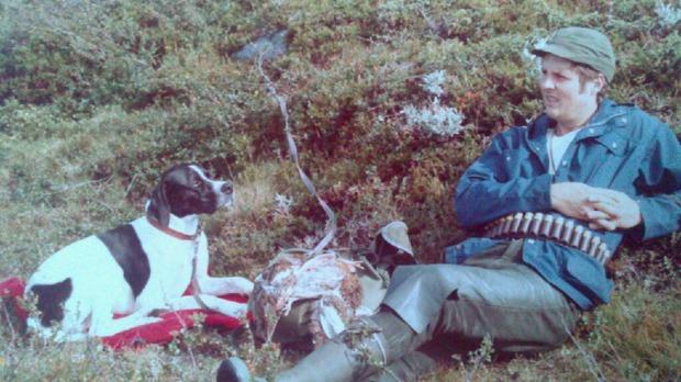 John Eric och Simson på en av många jaktturer