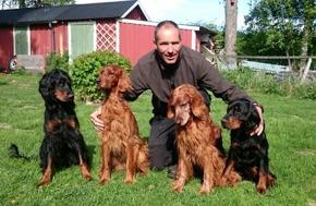 Marcus med hundar