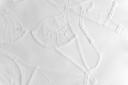 """""""Undressed"""" Debossment on paper, 2020"""