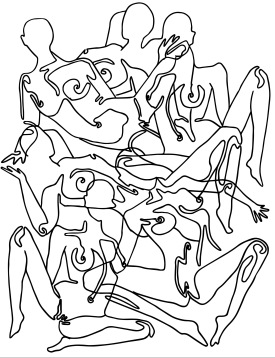 """""""Searching for the nude"""" Drawing, 2019"""