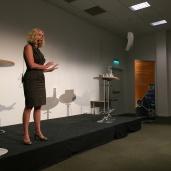 Susanne Kallur, VD för Sparbanken Syd, delade med sig av bankens syn på kulturengagemang.