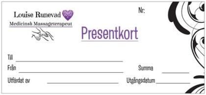 Louise Runevad Presentkort