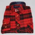 Flanellskjorta Röd/Svart