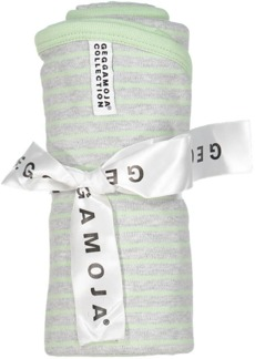 Babyblanket L.grey mel/mint 28 - Babyfilt