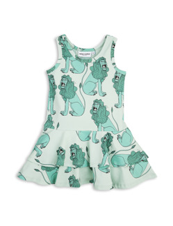 Lion Frill Dress Light Green - St 80/86