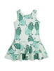 Lion Frill Dress Light Green