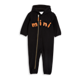 FLEECE ONESIE - SVART