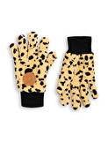 FLEECE SPOT GLOVE - BEIGE