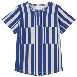 Odd Randig Baseboll T-shirt Blå - St 116/122
