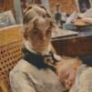Carl Larssons fru och dotter
