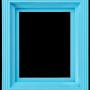 Ram i plast - Ljusblå