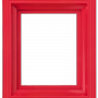Ram i plast - Röd