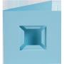 Dubbelvikta kort med fack - Ljusblå