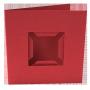 Dubbelvikta kort med fack - Röd