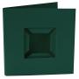 Dubbelvikta kort med fack - Grön