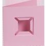 Dubbelvikta kort med fack - Rosa
