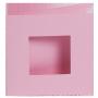 Dubbelvikta kort med utstansat hål - Rosa