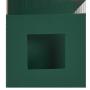 Dubbelvikta kort med utstansat hål - Grön