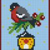 Fågel med lykta