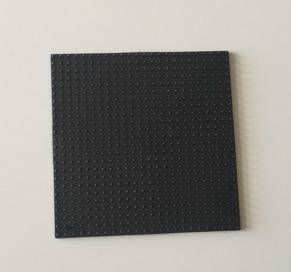Liten svart basplatta