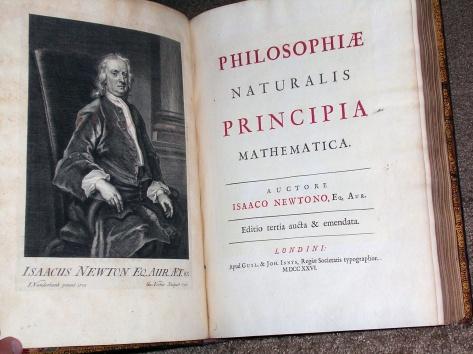 Isaac Newtons Principia – en av de viktigste böcker som någonsin skrivits, tillsammans med Linnés Systema nature och Darwins Om arternas uppkomst.