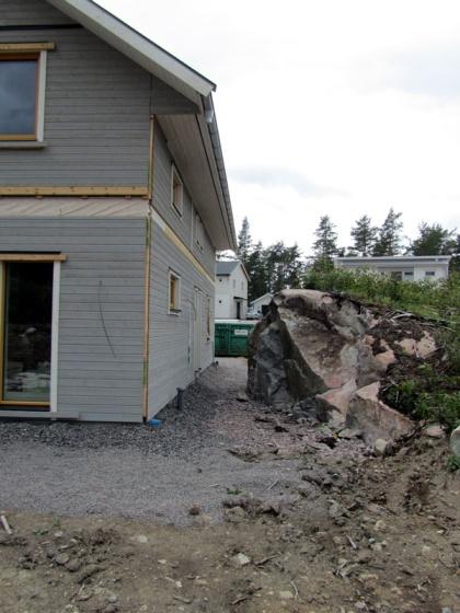 Med genomtänkt placeringav huset kan en del av bergetsparas