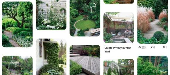 Trädgårdsinspiration från Pinterest