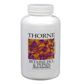 Betaine HCL/Pepsin Thorne - Betaine HCL Pepsin 225 Kapslar