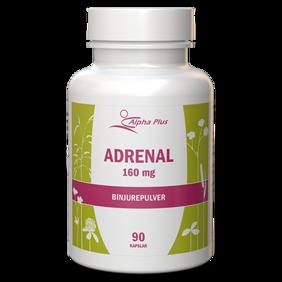 Adrenal 160mg  binjurepulver 90kap Alpha plus