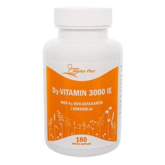 D3 3000 IE med K2 & astaxantin 120 kap