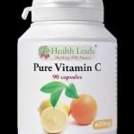 Pure c-vitamin 90 veg kapslar 600 mg