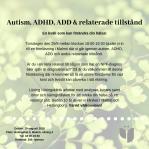 Kurs - Autism, ADHD, ADD & relaterade tillstånd 29/8 2019