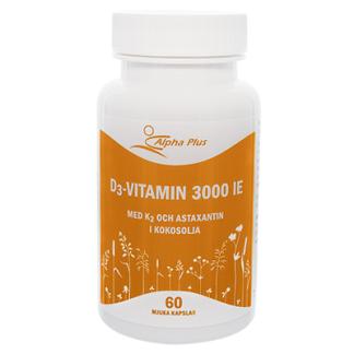 D3 3000 IE med K2 & astaxantin 60 kap