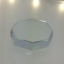 Jade sten i Glas