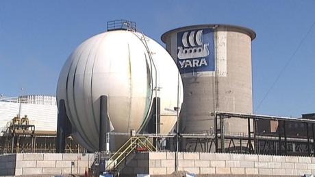 Den nya salpetersyrafabriken för Yara Köping